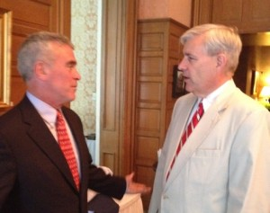 Congressman Brad Wenstrup congratulates Tom Brinkman on his recent win