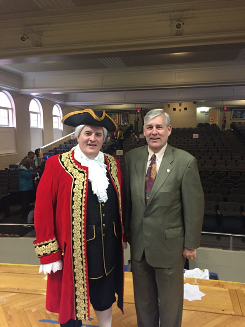 St. Rep. Tom Brinkman (right) and Mariemont's Town Crier, Bob Keyes
